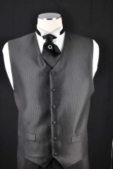 black self stripe  vest - fat boy tie(2)_059