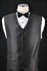 black self stripe vest_061