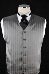 charcoal stripe vest_068