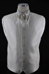 ivory self stripe vest_083